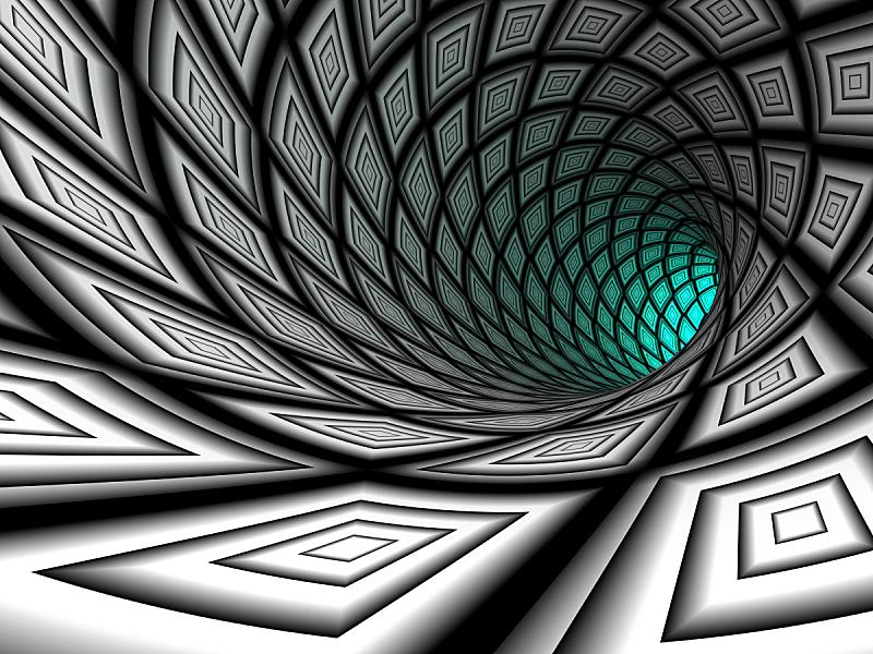 三维图形,隧道,格子图案,水平画幅,形状,无人,块状,绘画插图,科学,图像