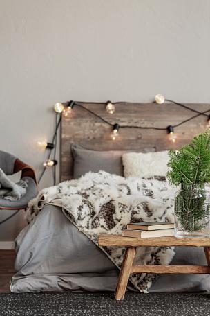 长椅,现代,云杉,木制,花瓶,冬天,枝,卧室,玻璃,设计