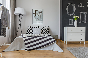 卧室,式样,创造力,室内,新的,水平画幅,无人,家具,现代,白色