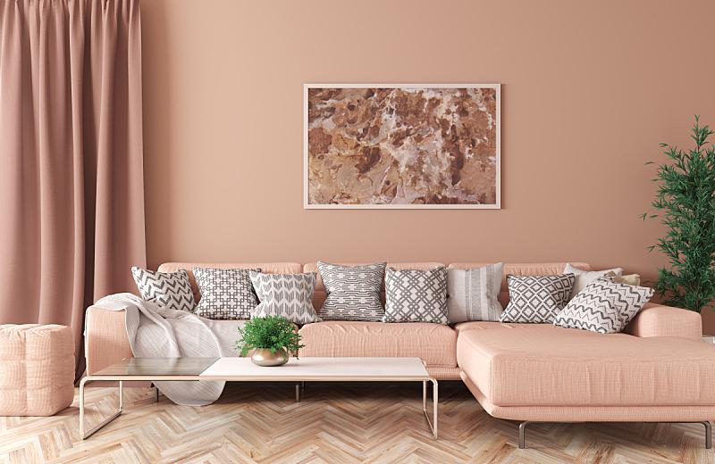 三维图形,沙发,起居室,室内,纺织品,华贵,边框,长软椅,地板,现代