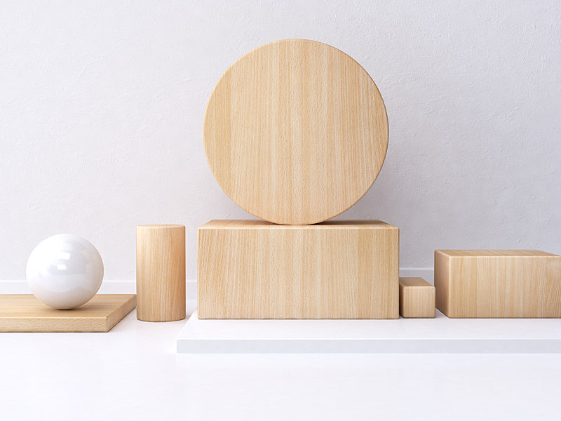 几何形状,白色,三维图形,抽象,木制,背景,极简构图,墙,艺术,水平画幅