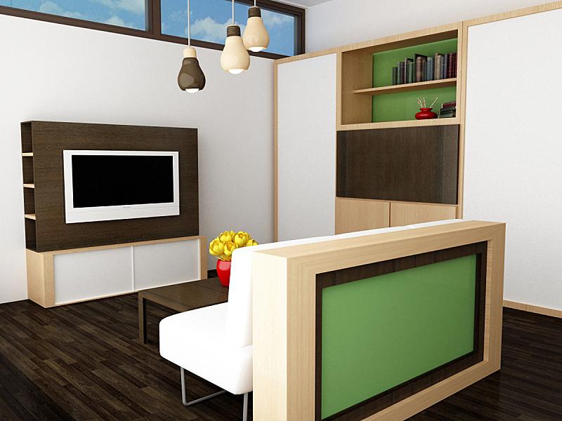 起居室,水平画幅,形状,绿色,建筑,木制,无人,家具,公寓,现代