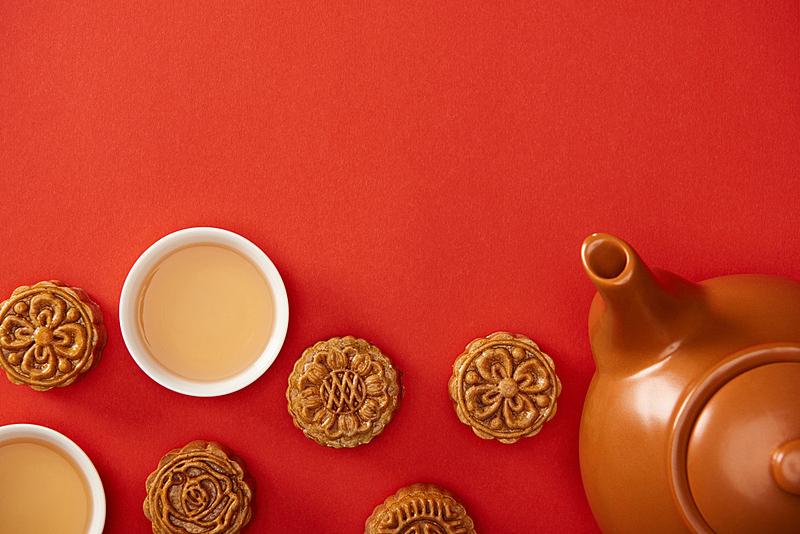 传统,杯,茶壶,分离着色,红辣椒,国内著名景点,事件,季节,中秋节,饮食
