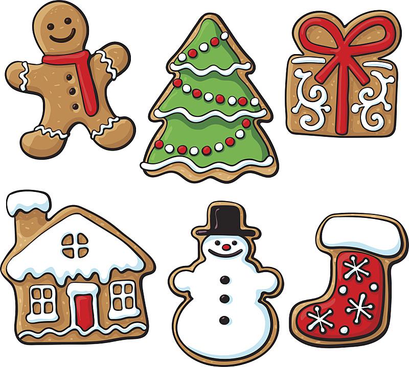 姜饼蛋糕,饼干,自制的,面无表情,姜饼人,婴儿鞋,生姜,圣诞树,雪人