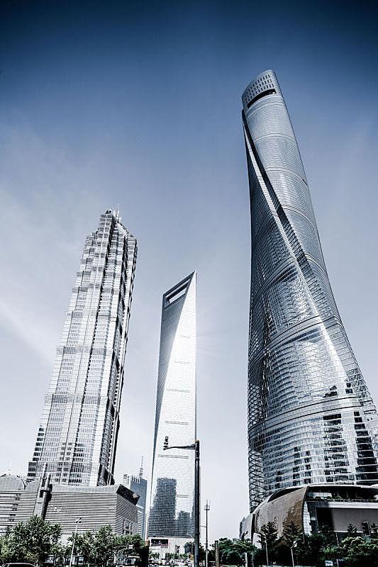 现代,建筑业,陆家嘴,银行,顶部,商业金融和工业,金茂大厦,阶调图片,上海中心大厦,办公室