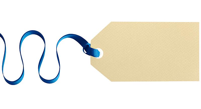 礼物标签,蓝色,白色背景,缎带,分离着色,留白,水平画幅,无人,标签