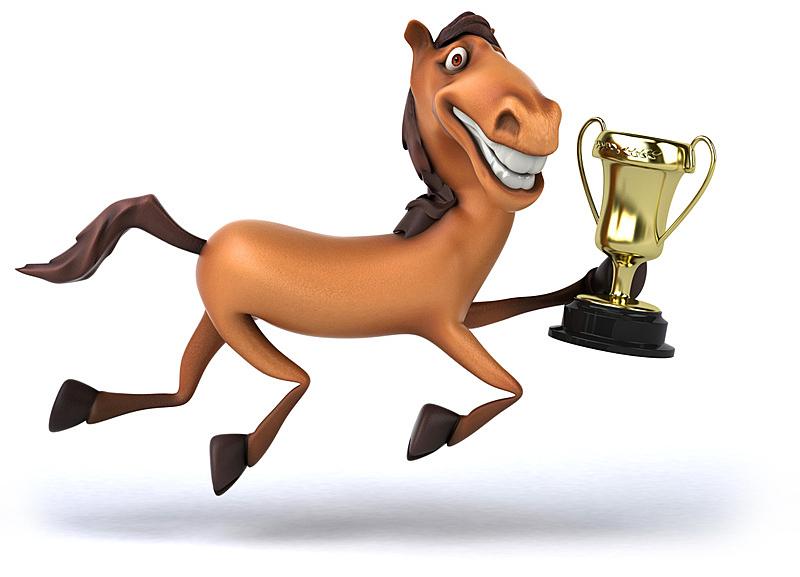 马,奖杯,水平画幅,形状,无人,绘画插图,背景分离,卡通,三维图形,动物