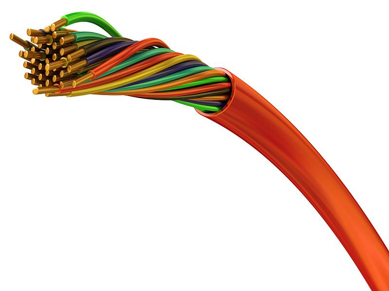 金属丝,铜,电缆,客户服务代表,水平画幅,偏远的,塑胶,独处,联系,编发