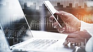 技术,概念,商人,笔记本电脑,水平画幅,男商人,经理,俄罗斯,股市数据,经济