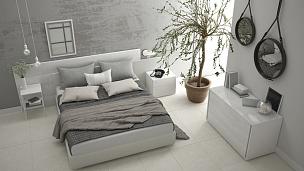 极简构图,卧室,窗户,室内设计师,巨大的,衣柜,油橄榄树,抽屉,混凝土墙,家庭生活