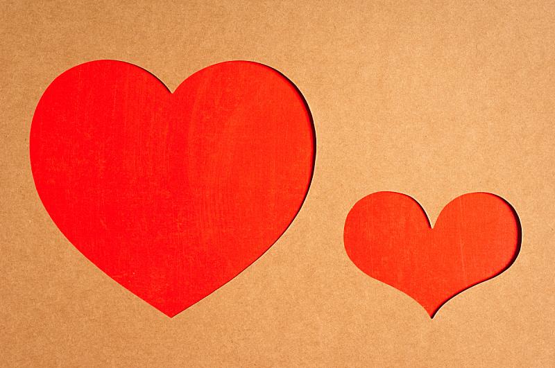 心型,留白,水平画幅,纹理效果,无人,浪漫,红色,彩色图片,复古风格,纸