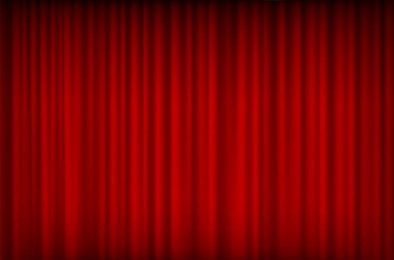窗帘,红色