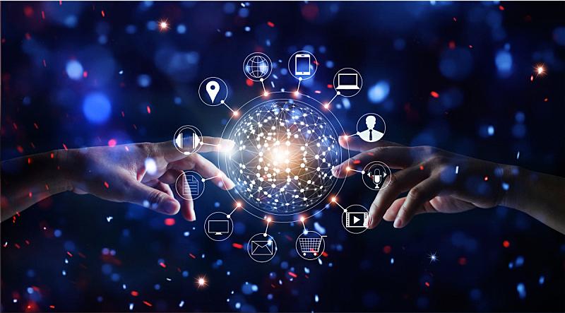 顾客,全球商务,手,背景,明亮,图标,数据,沟通,交换,触摸