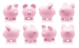 小猪扑满,粉色,猪,存钱罐,陶瓷制品,银行帐户,银行,稳定,储蓄,银行存款单