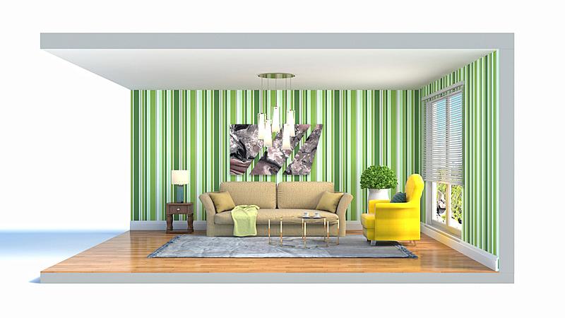 起居室,室内,绘画插图,三维图形,空的,扶手椅,舒服,灰色,沙发,现代