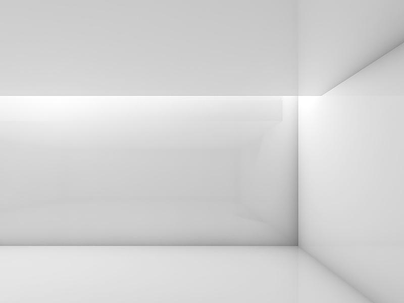 现代,白色,三维图形,抽象,室内,陈列室,极简构图,留白,新的,绘画插图