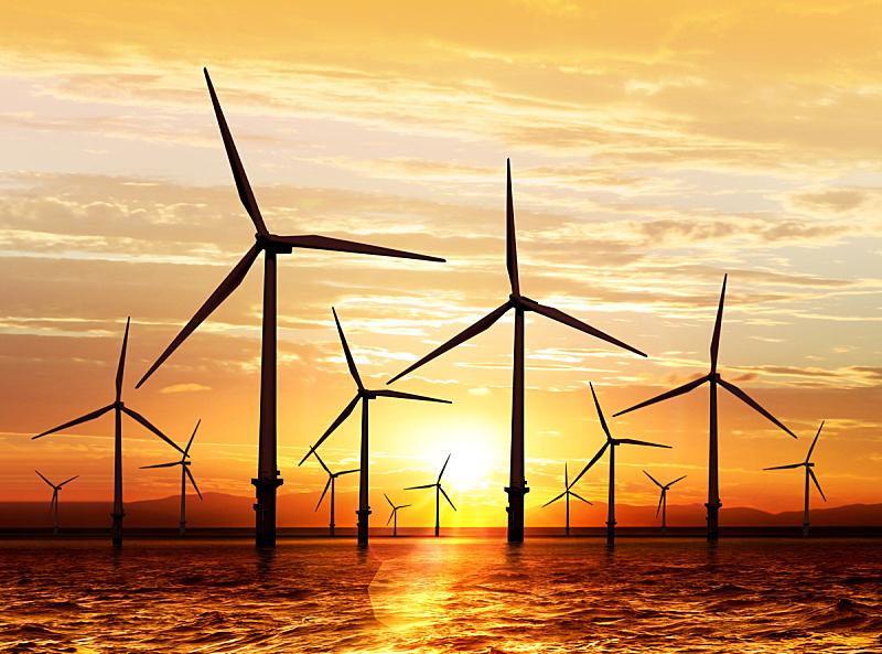 风轮机,风力,海洋,自然,天空,水平画幅,能源,涡轮,工业,环境保护