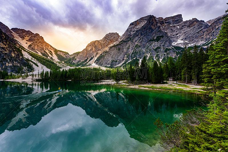 意大利,桨叶式冲浪板,布拉伊斯湖,风景,自然美,山,地形,上阿迪杰,喜剧演员,接力赛