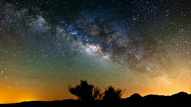 星迹,银河系,阿塔卡马沙漠,智利,天空,太空,星系,水平画幅,夜晚,无人
