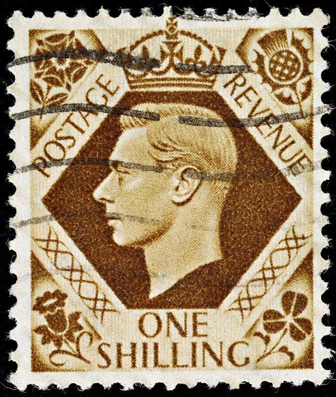 george vi,乔治王时代风格,邮戳,垂直画幅,褐色,古老的,古典式,英格兰