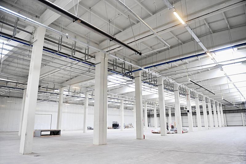 贮藏室,现代,空的,工厂,新的,仓库,水平画幅,建筑,配送中心,无人