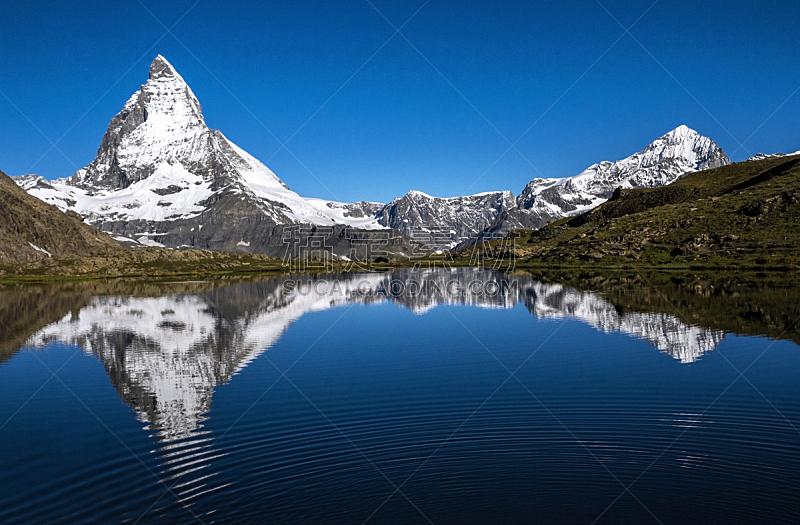 湖,瑞士,山,马特洪峰,自然,悬崖,水平画幅,雪,无人,欧洲