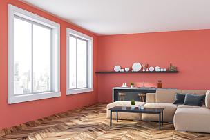 厨房,角落,沙发,安全护栏,粉色,华贵,舒服,炊具,椅子,现代