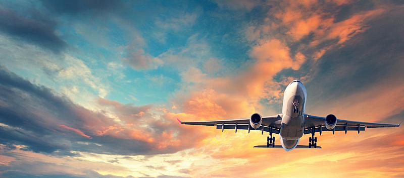 飞机,商用机,云,乘客,天空,地形,背景,着陆,飞,旅行