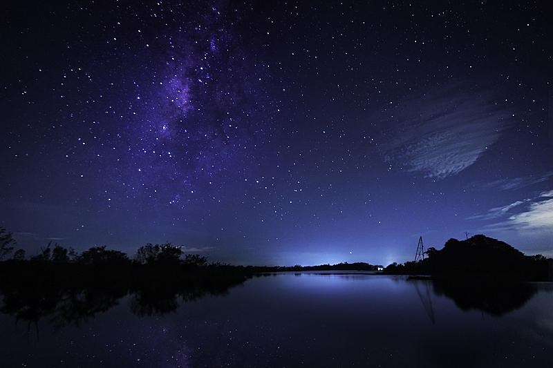 湖,在上面,银河系,泰国,自然美,天空,科学,星系,夜晚,自然