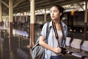 探险家,青年人,亚洲,旅行者,日本人,摄影师,日本,中国人,相机,旅途