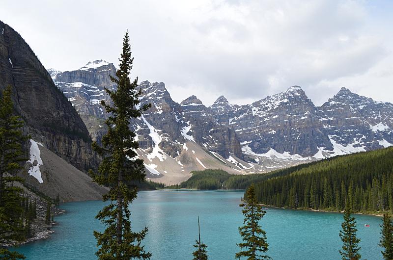 水,青绿色,自然,班夫,禅宗,水平画幅,地形,梦莲湖,雪,阿尔伯塔省