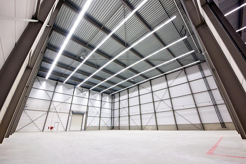 仓库,预制安装建筑,贮藏室,水平画幅,梁,配送中心,无人,巨大的,透视图,高大的