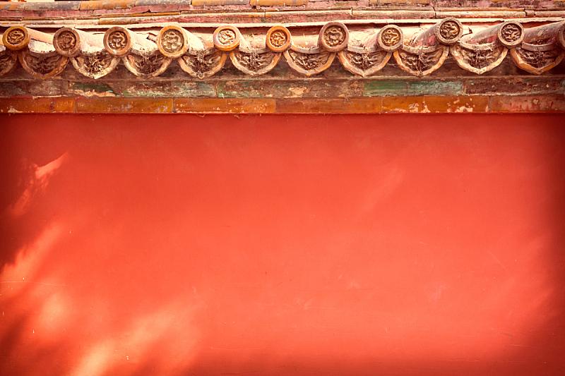 故宫,围墙,北京,红色,清朝,明朝风格,瓦,过时的,建筑特色,宏伟