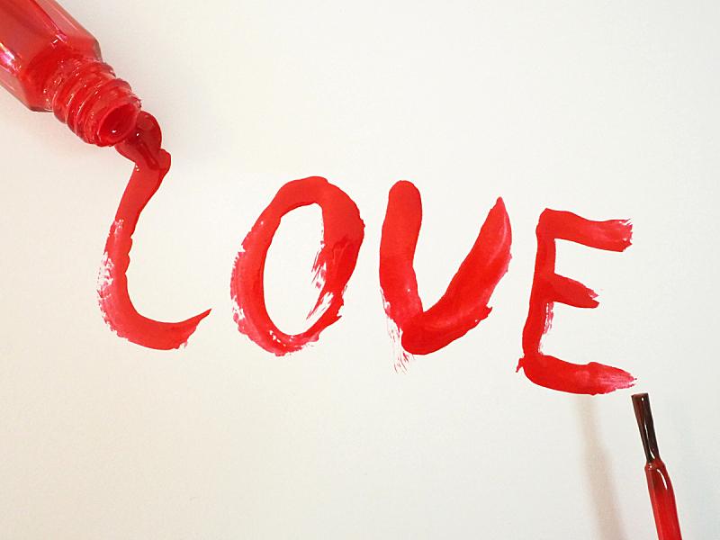 红色指甲油,涂料,白色,英语,红色,指甲油,文字,修指甲,字母,浪漫