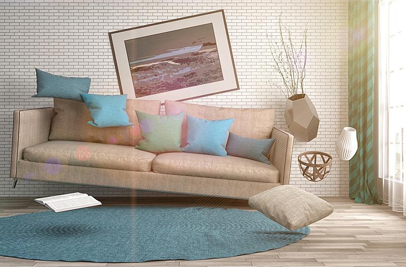 沙发,绘画插图,起居室,三维图形,地震,数字0,水平画幅,无人,家具,俄罗斯