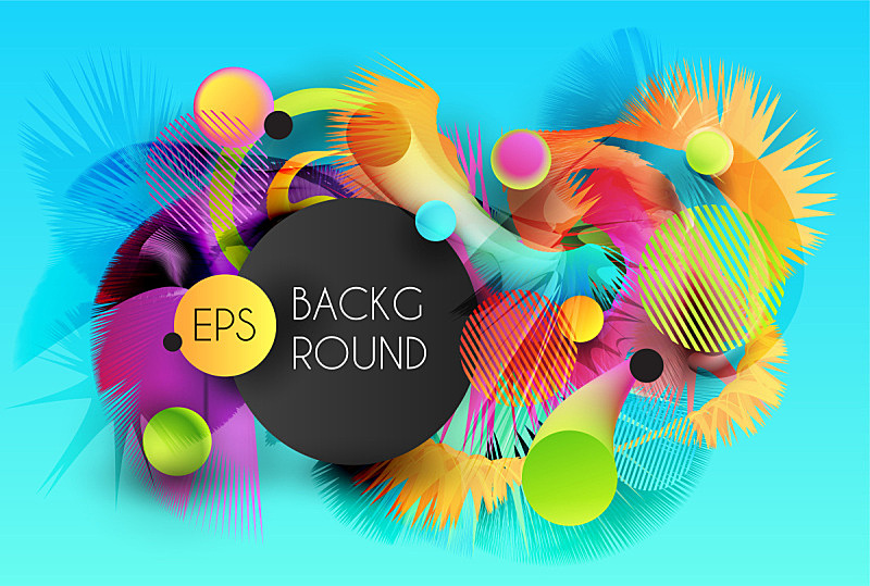 background with flexible abstract 3d forms