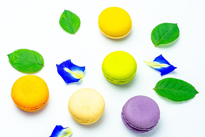 多色的,白色背景,蛋糕,多样,食品,泰国,甜点心,甜食,烘焙糕点,奶油