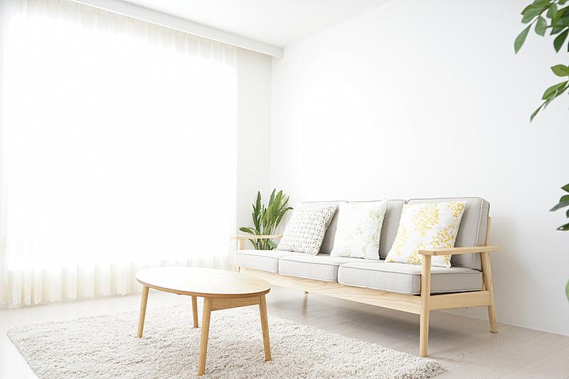 住宅房间,简单,无人,简单生活,起居室,窗帘,蠕虫,风,可持续生活方式,围墙