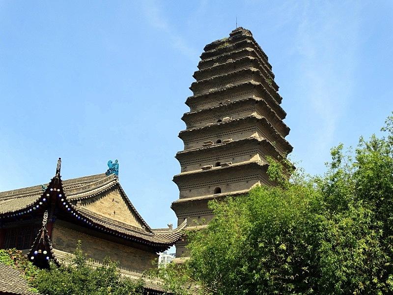 西安,中国,大雁塔,唐朝,寺庙,水平画幅,无人,亚洲,摄影