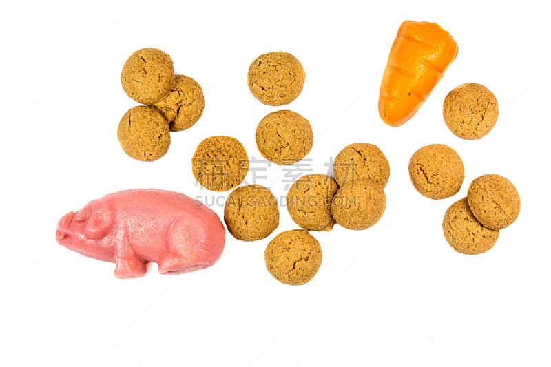 饼干,猪,组物体,胡萝卜,杏仁糖衣,坚果,水平画幅,传统,胡椒坚果