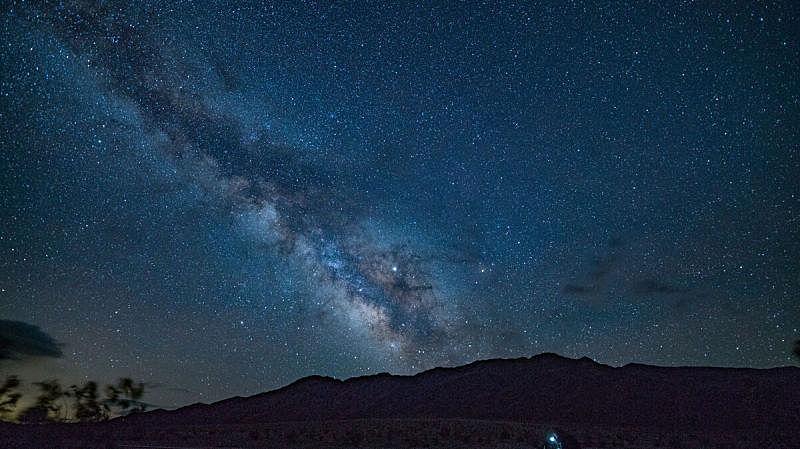夜晚,银河系,地形,天文学,自然,风景,图像,留白,水平画幅,无人
