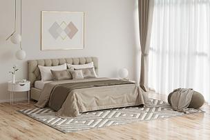 舒服,绘画艺术品,格子花纹,卧室,热,交通工具内部,华贵,地板,现代,床上用品