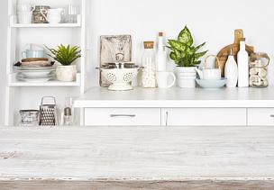 木制,架子,灶台,桌子,在上面,运动模糊,留白,平视角,古老的,古典式