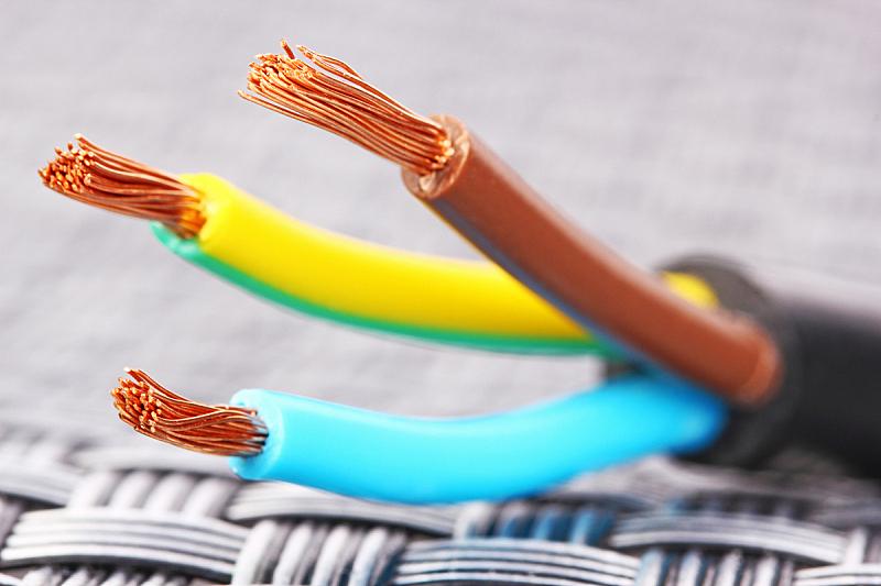 电缆,特写,铜,金属丝,水平画幅,无人,电,黑色,一个物体,三个物体