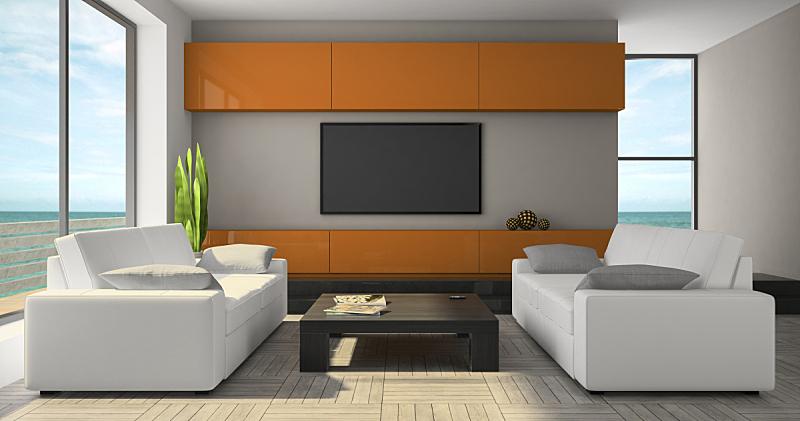 室内,柜子,极简构图,橙子,窗帘,扶手椅,地板,沙发,装饰物,豪宅