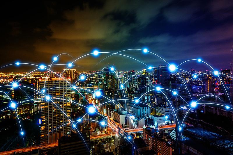 计算机网络,复合媒材,概念,无线电通信装置,抽象,智慧城市,纤维光学,纤维,人口爆炸,城市