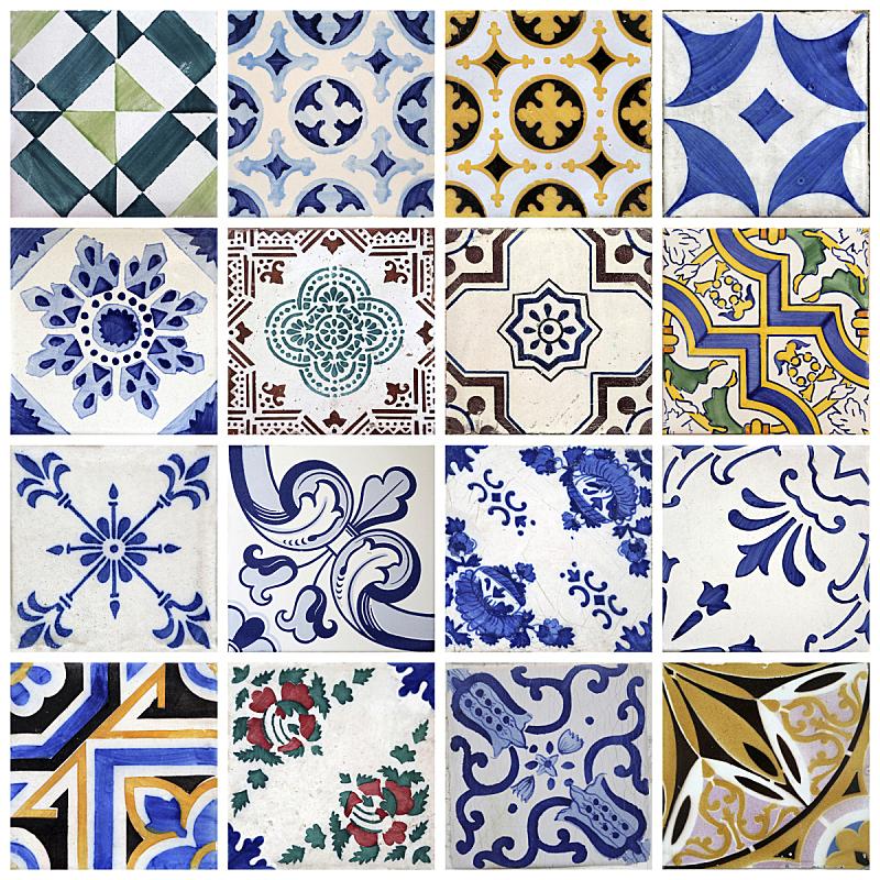 波尔图,传统,瓷砖,葡萄牙,波多,波尔图区,无人,色彩鲜艳,蓝色,组物体