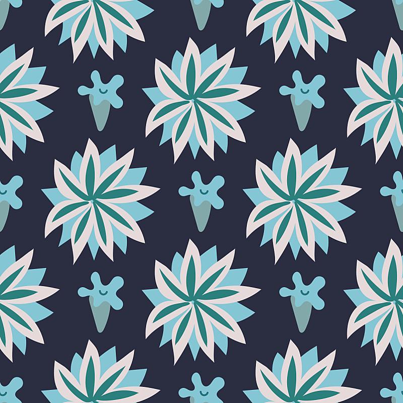 自然美,四方连续纹样,矢车菊,甘菊花,打印单据,华丽的,纺织品,浪漫,复古风格,古典式