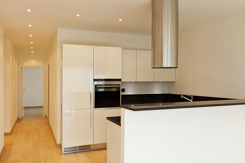 硬木地板,看风景,厨房,新的,水平画幅,墙,无人,走廊,家具,居住区