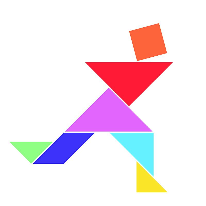 形状,矢量,男人,彩色图片,白色背景,留白,艺术,进行中,绘画插图,符号